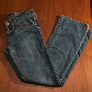 7FAM Boot Cut Top Stitched Jeans